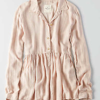 AEO Babydoll Shirt , Cream