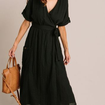 Karla Wrap Midi Dress