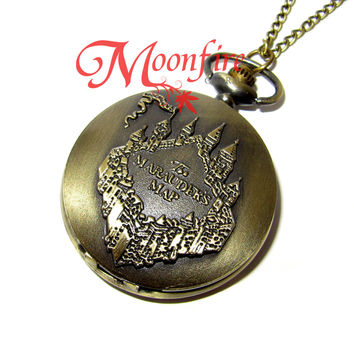 WIZARDING WORLD Marauder's Map Pocket Watch Necklace