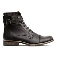 Boots with Double Leg Section - from H&M