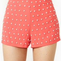 Pearl Beaded Shorts