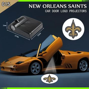 The new orleans saints team Car Door Welcome Projector Logo  Light