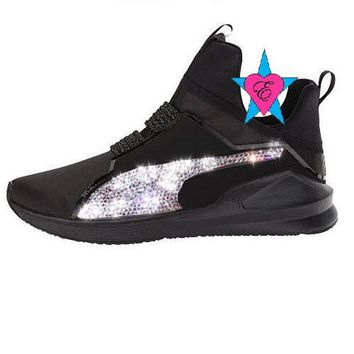 Crystal Sparkle Glitter Black Puma Fierce Satin EP