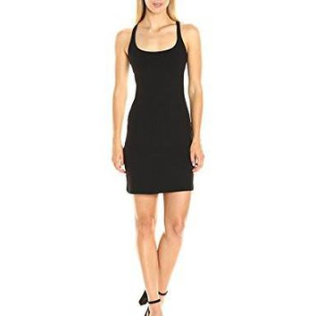 Susana Monaco Women's Racer-Back Mini Dress in Black