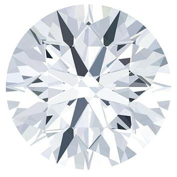 Certified Round Fire & Brilliance Loose Moissanite Stone - 1.25 Carats - E Color - VVS2 Clarity