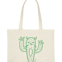 Stacy Michelson Cat-Tus Tote | Forever 21 - 1000171428