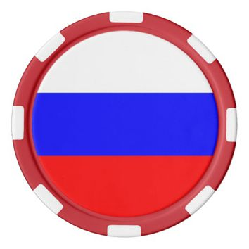 Poker chips with Flag of Russia