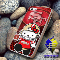 49ers Hello kitty  -  iphone 4/4s, 5/5s,5c,6,6+,ipod touch 5 ipad mini,air,2/3/4, samsung s3,s4,s5, note 4,5, FS