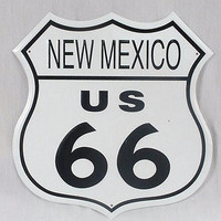 Route 66 New Mexico Highway Road Tin Sign
