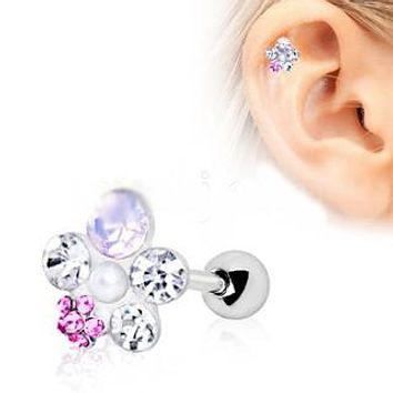 316L Stainless Steel Art of Brilliance Wildflower Cartilage Earring
