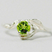 Peridot Ring - Sterling Silver
