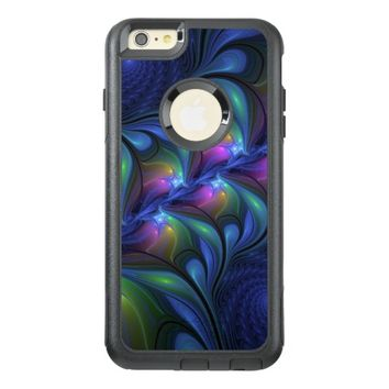 Colorful Luminous Abstract Blue Pink Green Fractal OtterBox iPhone 6/6s Plus Case
