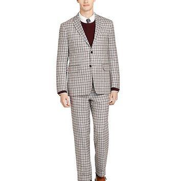 Burgundy Check Sport Coat - Brooks Brothers