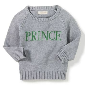 Peek Frog Prince Intarsia Knit Sweater (Baby Boys) | Nordstrom
