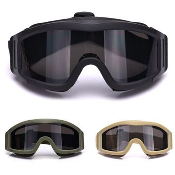 Military Airsoft Tactical Goggles Safety Glasses Combat Goggles 3 Interchangeable Anti-Fog Army Airsoft Paintball Glasses