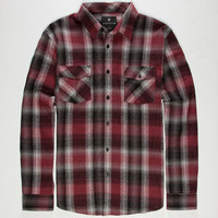 Shouthouse Baker Mens Flannel Shirt Burgundy  In Sizes