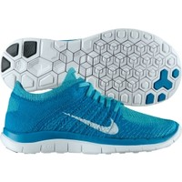 Nike Women's Free 4.0 Flyknit Running Shoe - Teal/White | DICK'S Sporting Goods