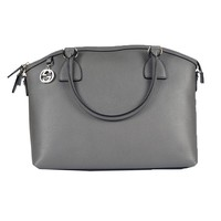 Gucci Women's Gray GG Charm Dome Handbag 449651