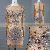 Aa61687a See Through Crystal Beaded Party Dress - Buy See Through Crystal Beaded Party Dress,Bead Embroidered Evening Dress,Crystal Beaded Evening Dress Product on Alibaba.com