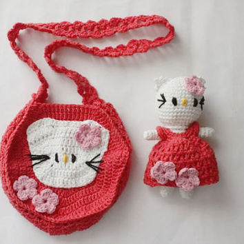 Amigurumi Toy & Bag - Hello Kitty Set