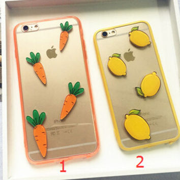 Lemon Carrot Case Cover for iphone 5s 6 6s Plus Gift 194