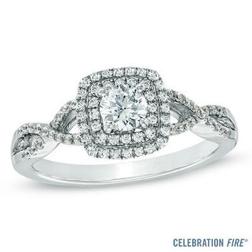 Celebration Fire® 5/8 CT. T.W. Diamond Engagement Ring in 14K White Gold (H-I/SI1-SI2) - View All Rings - Zales