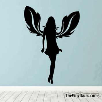 Sexy Angel Pin-Up Girl Wall Decal #00013