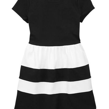Gap Girls Factory Colorblock Fit & Flare Dress