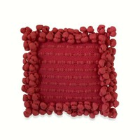 Anthology™ Bungalow Pom Pom Square Throw Pillow