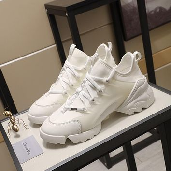 Christian Dior  AMAZING Men's 2020 New Embroidery Monogram Canvas Low Top Boots Casual Sneaker Dior Running sport Shoes flats BEST quality