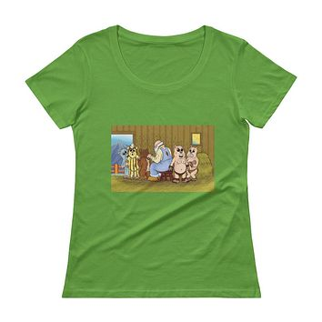 Shearing Day  Ladies' Scoopneck T-Shirt
