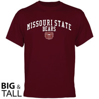 Missouri State University Bears Team Arch Big and Tall T-Shirt - Maroon