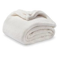 "Cream Fuzzy Shell Throw (50""X70"") - Threshold™"