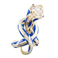 Juan da Silva Masterpiece: Enamel Serpent Sculpture Ring
