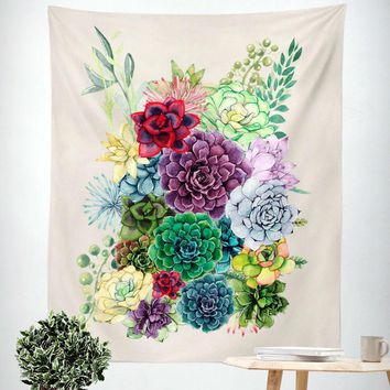 New! Beautiful Succulent Wall Tapestries