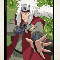 Jiraiya Naruto Shippuden Japanese Anime  Z1079 iPad 2 3 4, iPad Mini 1 2 3, iPad Air 1 2 , Galaxy Tab 1 2 3, Galaxy Note 8.0 Cases