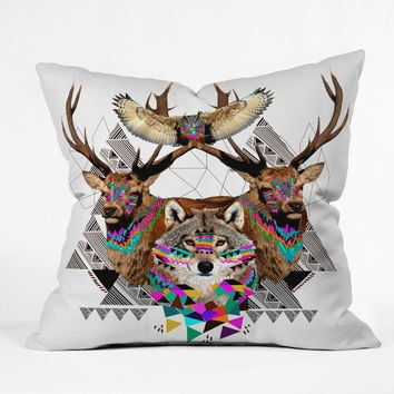 Kris Tate Forest Friends Throw Pillow