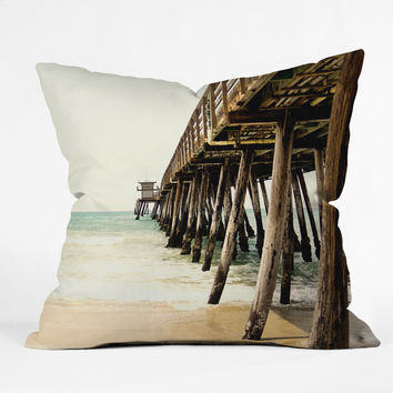 Bree Madden Down By The Pier Throw Pillow