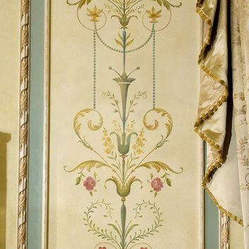 Wall stencil Marie-Antoinette Side Panel LG - amazing detail - Elegant French decor