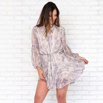Snake My Day Chic Snakeskin Print Dress