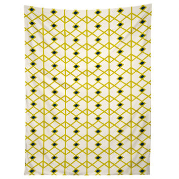 Heather Dutton Annika Diamond Citron Tapestry