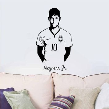 YOYOYU Neymar Vinyl Wall Sticker Paris Club Football Player Removable Decal Livingroom Bedroom Decoration Art Poster ZX361