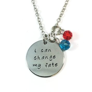 """""""I Can Change My Fate"""" Stamped Princess Necklace"""
