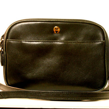 Vintage Black Etienne Aigner Multi Compartment Purse