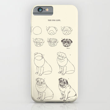 How to Draw The Pug Life iPhone & iPod Case by Huebucket