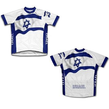 Israel Cycling Athletic Jerseys Short Sleeve