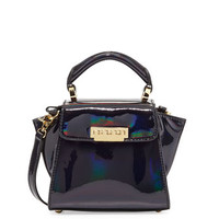 Z Spoke Zac Posen Holographic Eartha Mini Crossbody Bag, Petrol
