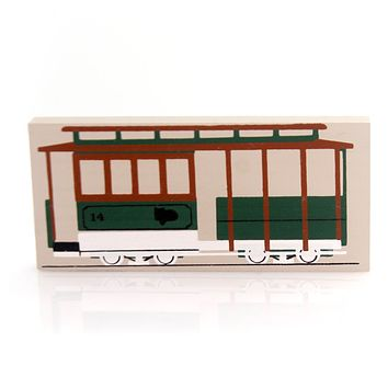 Cats Meow Village CABLE CAR ACCESSORY Wood Retired San Francisco 1143-04