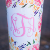 Sip and Smile Cup, Coral Floral