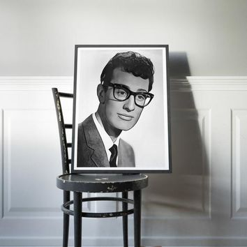 Buddy Holly Poster Rock n Roll Art Painting Print